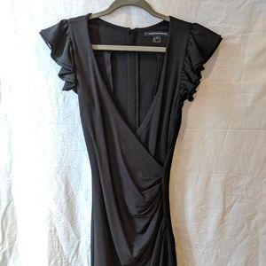 French Connection Black Ruffle Mini Dress US2